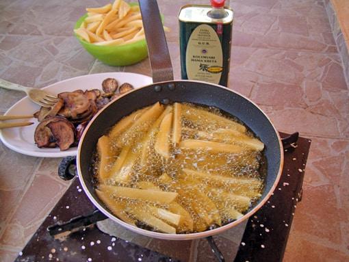 kartoffeln in öl